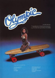 Olympic skateboard advert from the 70s