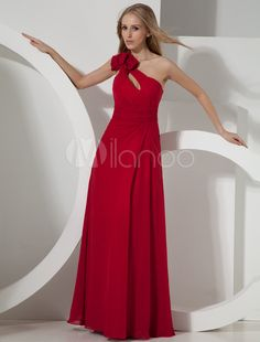 Abendkleid aus Chiffon in Rot - Milanoo.com