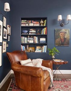 Decorating with Moody Colors - Dark Walls