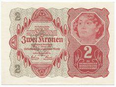 2 Kronen 1922 (Frauenportrait) Österreich Erste Republik