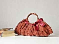 Women's Knit tote bag handmade bag accessories Knitted by NzLbags, $87.00