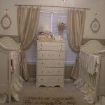 French inspired nursery for boy/girl twins