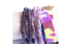Wachinik Handmade Triple Wrap Bracelet Violet by Ketzali on shop us forward