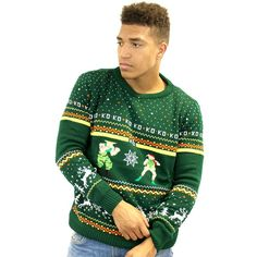 Official Street Fighter Guile vs Cammy Christmas Jumper / Sweater - £24.99