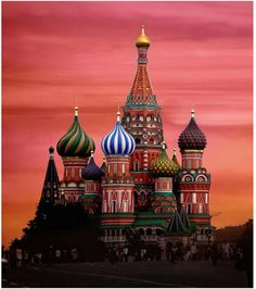 St Basil Cathedral at the Kremlin (Moscow), Russia