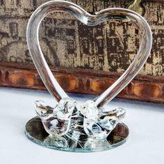 Marturie porumbei din sticla cu inima Engagement Rings, Bracelets, Silver, Jewelry, Enagement Rings, Wedding Rings, Jewlery, Jewerly, Schmuck
