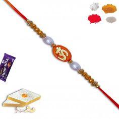 Mauli Om Rakhi with Pearl and Beads