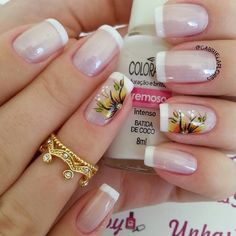 Ideas For Nails Pretty Glitter Nailart French Nails, Glitter French Tips, Colorful Nail Designs, Nail Art Designs, Spring Nails, Summer Nails, Manicure And Pedicure, Diy Nails, Nail Colors