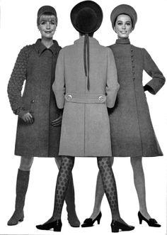 1960's fashion jean patou - pierre cardin - jacques heim 1966