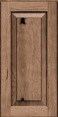 Square Raised Panel - Solid (DAH) Rustic Hickory in Husk - Wall