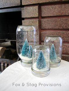Christmas Jar Snow Globe. $28.50, via Etsy.
