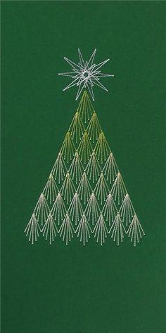 fadengrafik weihnachtsbaum