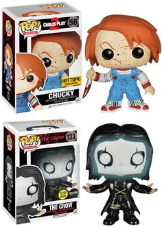 Hot Topic The Crow and Chucky Exclusive POPS