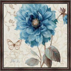 Green Leaf Art A Blue Note II Framed Painting Print & Reviews | Wayfair