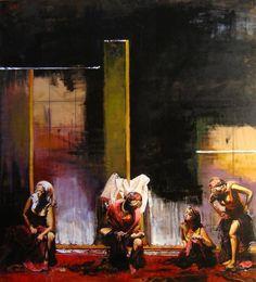 "Saatchi Art Artist Marco Ortolan; Painting, ""Four Gypsies ( SOLD )"" #art"