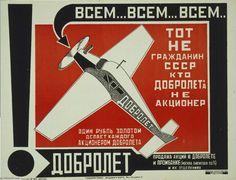 Dobroliot (Fly bien) (3) de Alexander Rodchenko (1891-1956, Russia)