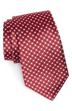 Free=shipping and returns on Nordstrom Woven Silk Tie from Nordstrom. A attractive geometric grid defines a pointy tie cut from genuine silk. Ties That Bind, Designer Ties, Cool Ties, Mens Style Guide, Mens Essentials, Wedding Ties, Paisley Dress, Tie And Pocket Square, Well Dressed Men