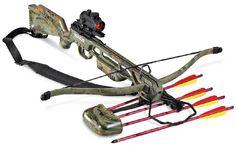 New Jaguar 175 lb Spring Camo Archery Hunting Crossbow w Bolts . Crossbow Targets, Crossbow Bolts, Diy Crossbow, Crossbow Arrows, Crossbow Hunting, Archery Hunting, Hunting Gear, Hunting Season, Deer Hunting