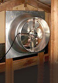 Solar Powered Attic Fan 12 Watt Gable Exhaust Vent Natural
