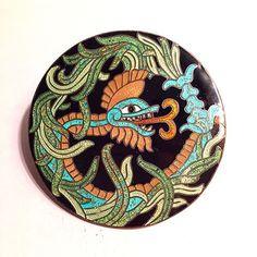Margot de Taxco c. 1950 Sterling Enamel Brooch #mexican #bellasartes #margotvanvoorhiescarr #modernism #midcenturymodern #sterlingdragon #Quetzalcoatl #enamelbrooch #sterlingbrooch #mesoamerican #diety #god #feathered #serpent #confetti #enamel #ジュエリー #entwurf #925 #1950s #jewelry #ювелирные #schmuck #margotdetaxco #jannathomas #taxco #culture #mayan #kunst #beautifulthings
