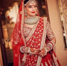 Types of Indian Bridal Makeup - Traditional Indian Bridal Makeup. Check out some of the different types of Indian bridal makeup like South Indian, Punjabi, etc. 2016 Wedding Dresses, Indian Wedding Outfits, Bridal Outfits, Indian Outfits, Bridal Dresses, Indian Weddings, Hindu Weddings, Dresses 2016, Indian Clothes