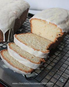 Eggnog Pound Cake with an Eggnog Glaze!