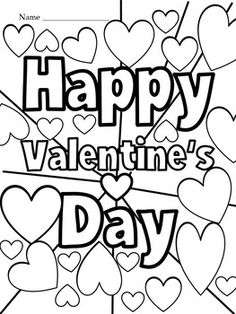 Valentine's Day Activities & Crafts by Teacher's Brain - Cindy Martin Valentines Day Activities, Valentines Day Party, Valentine Day Crafts, Valentine Ideas, Love Coloring Pages, Valentines Day Coloring Page, Colouring, Coloring Books, Holiday Fonts