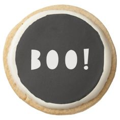 Halloween cookie BOO! - black gifts unique cool diy customize personalize
