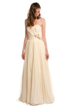 Cherry Blossom Wedding Dress, Chiffon, Custom Made to Order in your size - Sakura Style - Avail & Company, LLC  This gorgeous vintage strapless is made from beautiful flowing chiffon and has a beautiful cherry blossom on the side waist. Perfect for a spring or beach wedding.