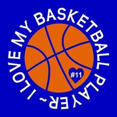 Our Original Design - I love my basketball player shirt, Basketball mom, basketball sister, basketball grandma by The Walnut Street House