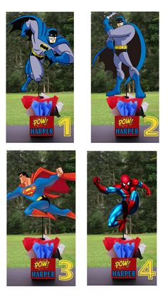 Super Hero Birthday Party Centerpieces. Playpatterns.net