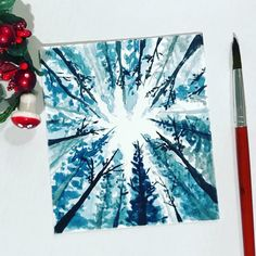 """311 Likes, 18 Comments - QuirkySplash (@quirkysplash) on Instagram: """"A quick mini monochrome forest for today . . . . . #watercolor #watercolour #inspiring_watercolors…"""""""
