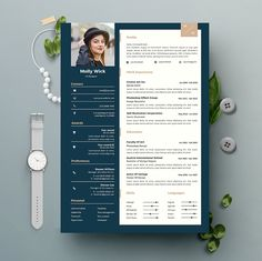 If you like this cv template. Check others on my CV template board :) Thanks for sharing! Resume Design Template, Creative Resume Templates, Cv Template, Graphic Design Cv, Cv Design, Cv Simple, Cv Words, Cv Inspiration, Good Resume Examples