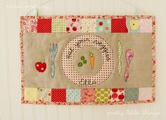 Adorable placemat for the #kids from #etsy