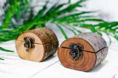 Natural Log Ring Box made from a branch by Jaccob McKay Sustainably sourced wood  #WoodworkIdeas