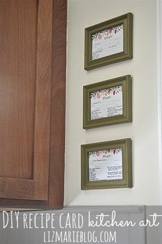 DIY framed recipe card art @lizmarieblog.com - create meaningful & useful art for your kitchen.
