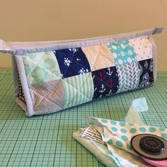 A Patchwork Triangle Pouch