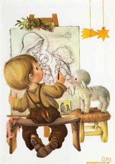 107 best Suche Lisi Martin Karten / my search for Lisi . Christmas Clipart, Christmas Pictures, Christmas Art, Vintage Christmas, Sarah Kay, Christmas Illustration, Cute Illustration, Vintage Cards, Vintage Images