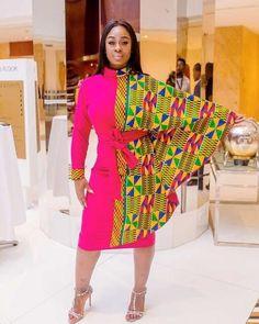 Ankara women's clothing/ Cape short gown/ African print cape dress/ Dashiki long gown/ Prom dress/ K at Diyanu African Party Dresses, African Print Dresses, African Wear, African Attire, African Fashion Dresses, African Women, African Dress, Ankara Fashion, African Prints