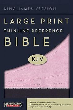 $19.97 Large Print Thinline Reference Bible-KJV (Pink/Brown) | Hendrickson Publishers | LifeWay Christian Reference Bible