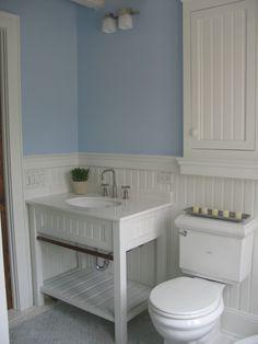 Wainscott custom vanity Designed by smtinteriors www.smtdesignandbuild.com #bathrooms