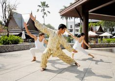 Practising martial arts to build stamina and increase vitality