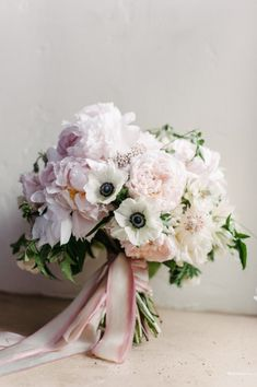 Camellia Floral Design Melanie Duerkopp Photography - Bridal bouquet with blush pink peonies, blushing bride protea, panda anemones with jasmine Bouquet Pastel, Anemone Bouquet, Anemone Flower, Bridal Flowers, Flower Bouquet Wedding, Anemone Wedding, Flower Bouquets, Purple Bouquets, Mod Wedding