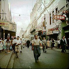 Lima, Peru, main Shopping Street - Vintage Color slide - 1960's by Mike Leavenworth, via Flickr