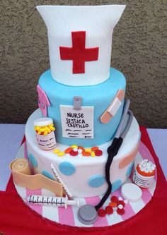 Nurse cake for a recent grad!