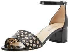 Marvin K Womens Nina AnkleStrap SandalBlack Lizard75 M US *** See this great product.(This is an Amazon affiliate link)