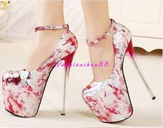 bb8e925fefef Women s Lady Party Super High Heel Stilettos Nightclub Pump Shoes Platform  Platform Stilettos