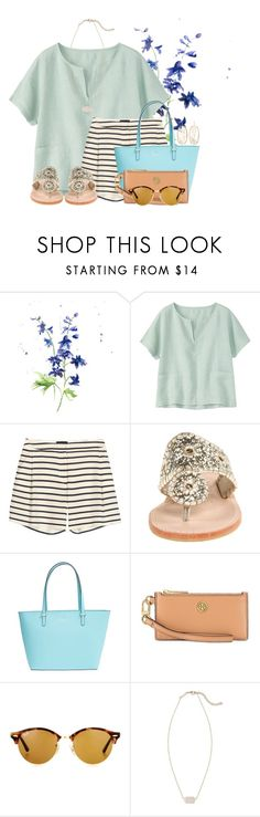 """""""Do y'all like this??"""" by flroasburn ❤ liked on Polyvore featuring Toast, Sophie Hulme, Jack Rogers, Kate Spade, Tory Burch, Ray-Ban and Kendra Scott"""