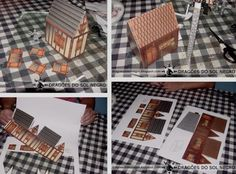 PAPERMAU: Two Medieval Houses Paper Models For Dioramas, RPG And Wargames - by Dragões Do Sol Negro