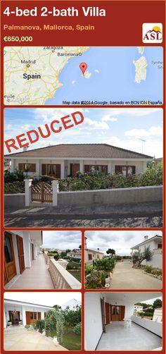 4-bed 2-bath Villa in Palmanova, Mallorca, Spain ►€650,000 #PropertyForSaleInSpain